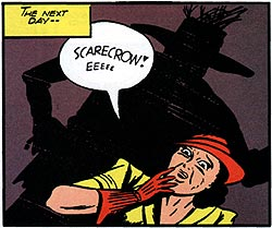 Scarecrows should only scare crows, lady. What you're looking at is a scareperson.