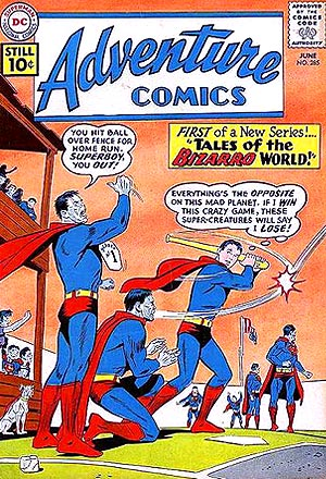Superboy plays ball.