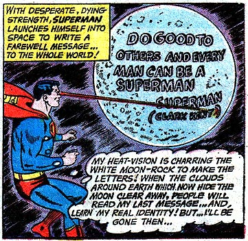 Superman doesnt need for punctuation