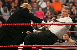 Vince vs. Trump: this picture should be in each man's resume.