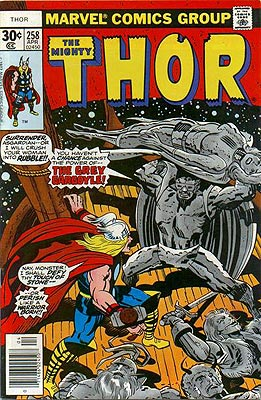 Thor, losing to the Grey Gargoyle doesn't make you a warrior. It makes you a loser.