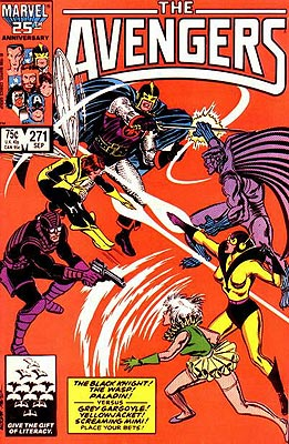 Black Knight, Wasp, Paladin versus Grey Gargoyle, Yellowjacket, and Screaming Mimi? Be still my beating heart!
