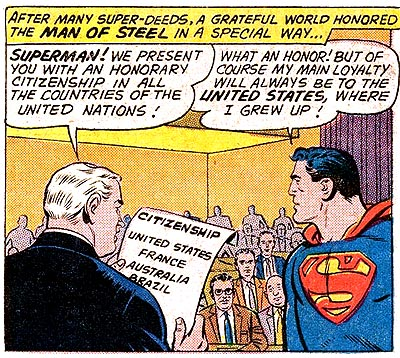 Well of course Superman likes us best, we're the USA.