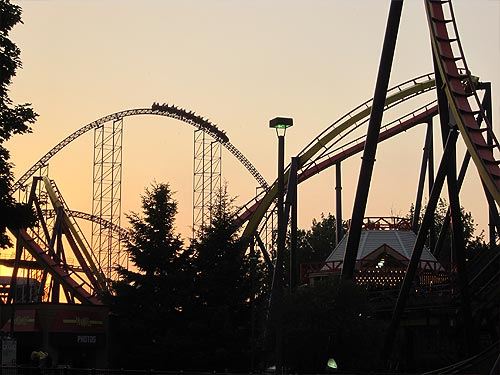 Roller Coaster twilight.