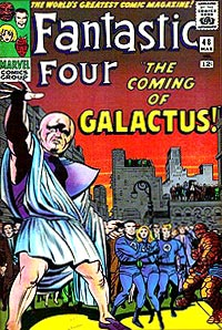 This is the actual cover art of Fantastic Four #48, I swear.
