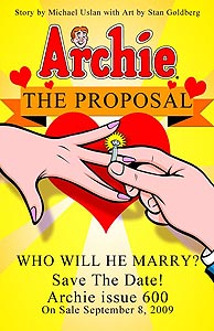 Note that they advertise The Proposal, not The Marriage. Hmm.