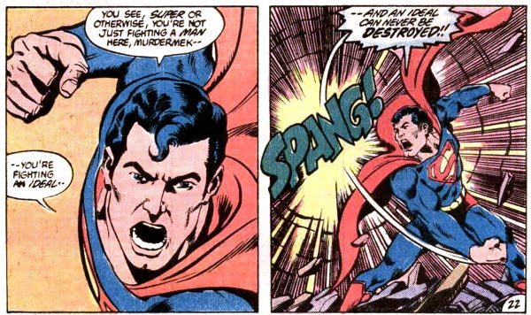 Headline: Superman Spouts Terrorist Doctrine
