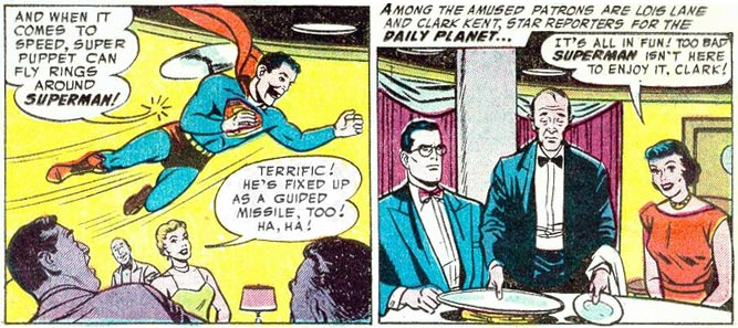Clark Kent doesn't look very amused
