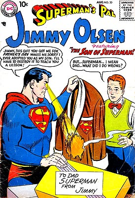 How can Superman adopt a child without telling that child that he's also Calrk Kent, that child's boss? I love you, Silver Age.