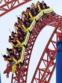 Superman Escape at Waner Brothers Movie World, Australia