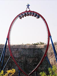 Superman Krypton Coaster in Six Flags Fiesta Texas