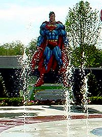 Superman at Six Flags New Orleans.