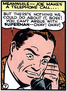 Telephone calls, men named Joe, plaid suits! Action Comics is excitement on every panel!