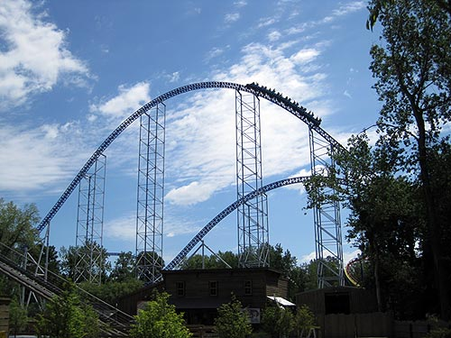 Millennium Force ascending.
