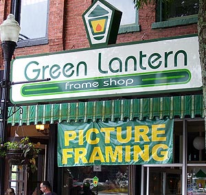 In brightest day, in blackest night, I will buy my picture frames by Green Lantern's light!