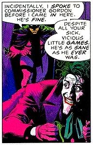 At least in comics, the Joker isn't the only one with style.