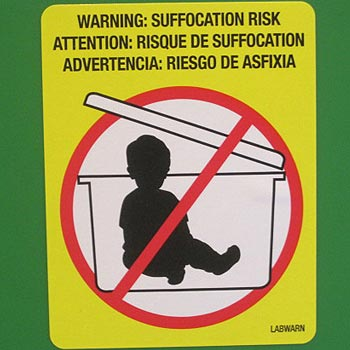 Please dispose of your child only in a legal rubbish bin