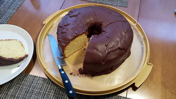 Mmm, giant chocolate-covered donut