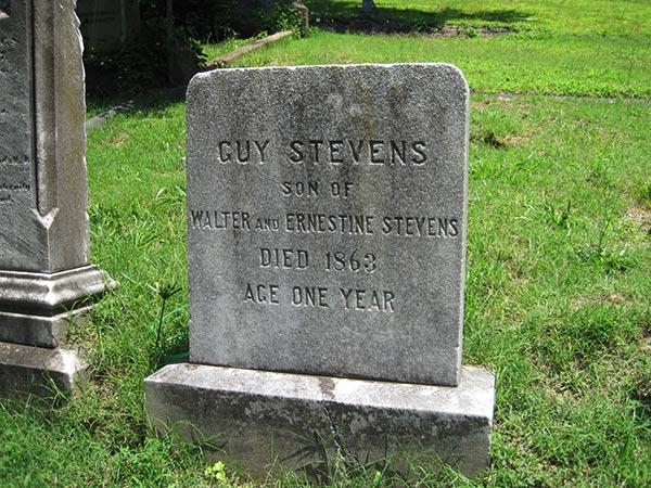grave of Walter Stevens and family