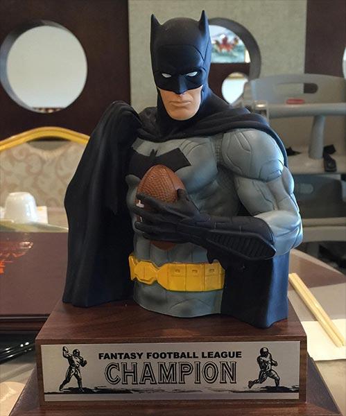 You got your football in my Batman
