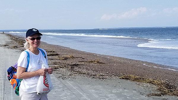 She seeks sea shells by the sea shore.