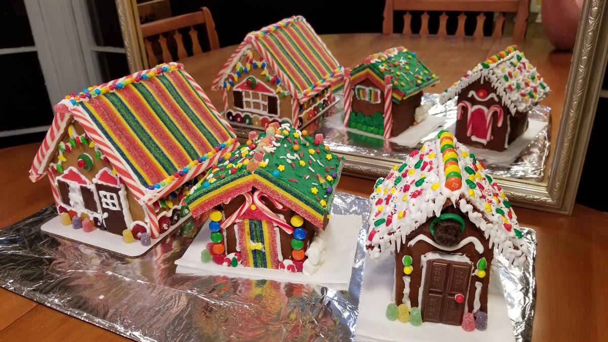 'Are you going to make a gingerbread house?' asked the cashier. 'I did that when I was a child.'