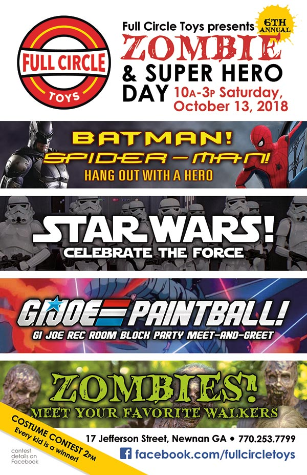 Zombie Day, Saturday, October 13, 2018