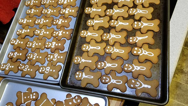 Everybody's crazy 'bout a sharp-dressed gingerbread man