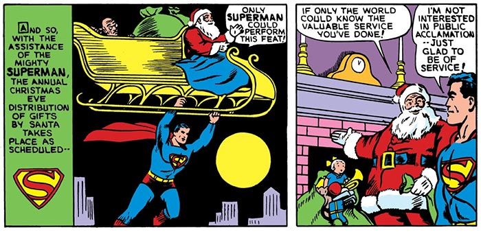 Superman doesn't care for your reindeer games!
