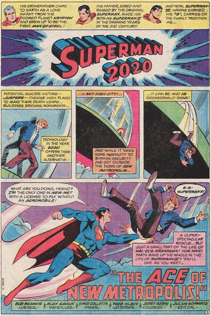 Superman: a one-man suicide hotline since 1937!