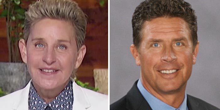 Ellen DeGeneres and Dan Marino: Separated at birth?