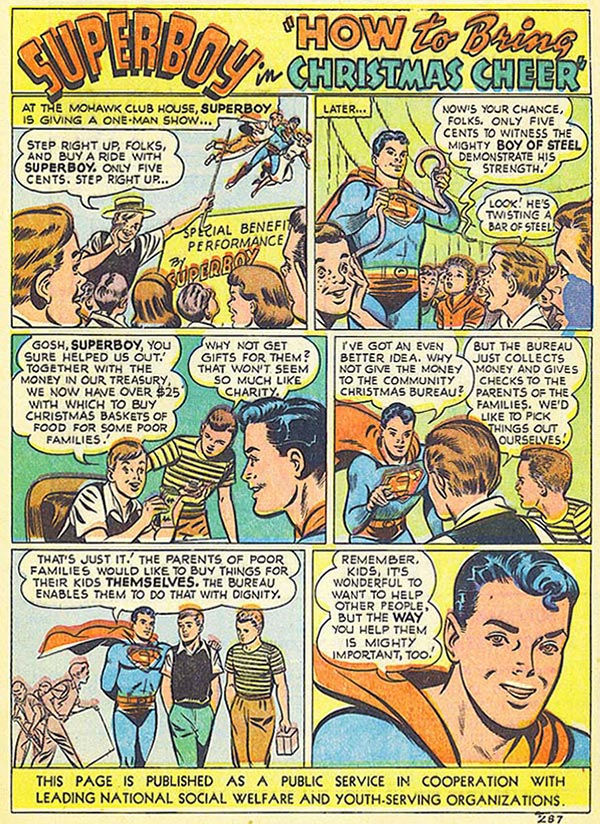 Superboy says gift cards are for losers!