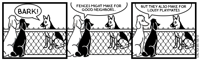 Fences: prisons for dogs