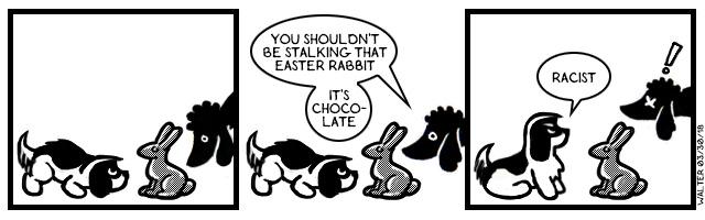Nothing says 'resurrection' like chocolate rabbits!